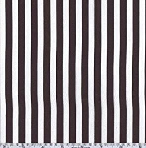 60'' Wide Charmeuse Satin Stripe Black/White Fabric By The Yard