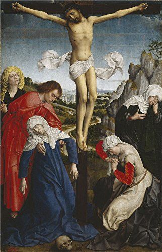 The Perfect effect canvas of oil painting 'Weyden Roger van der Crucifixion Ca. 1510 ' ,size: 24 x 37 inch / 61 x 95 cm ,this Cheap but High quality Art Decorative Art Decorative Canvas Prints is fit for Foyer gallery art and Home gallery art and