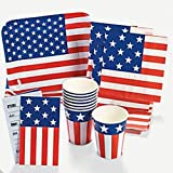 Patriotic Flag-Shaped Tableware/Plates, Cups, Invites and Napkins
