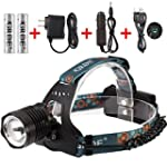 Zoomable Headlamp 3-Mode 1800Lumens R...