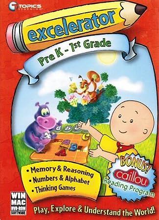 Excelerator Pre K - 1st grade