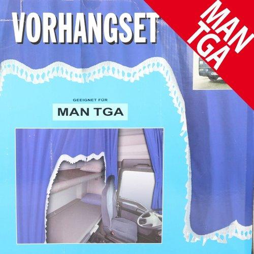 LKW Gardinenset blau/weiß 5tlg. MAN/TGA Dekoration Innenausstattung