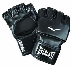 Everlast Erwachsene Boxhandschuhe Martial Arts Open Thumb Grappling Gloves Mesh Bag, Black, S/M, 7561
