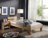 SAM® Massivholz Kernbuche Bett Campino 90 x 200 cm geteiltes