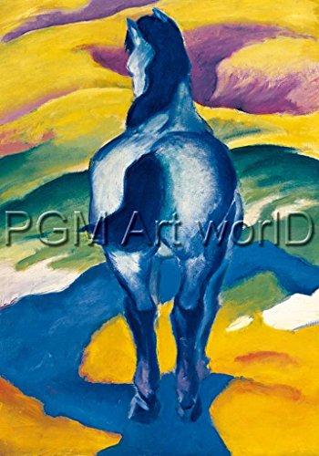 """Kunstdruck / Poster: Franz Marc """"Blaues Pferd II"""" - hochwertiger Druck, Bild, Kunstposter, 21x29 cm"""