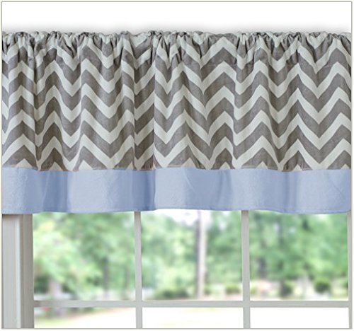 Baby Doll Minky Chevron Window Valance, Blue