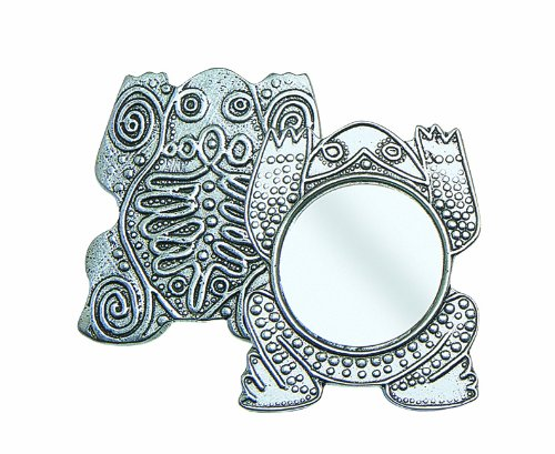 Crosby & Taylor Frog Pewter Purse Mirror