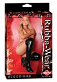 Rubba Wear Latex Stockings, Black, One Size