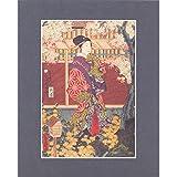 Gankiro Tea House by Kunisada and Kunitoki (Mounted Gicleé Print)