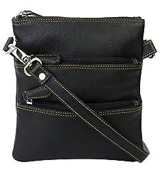 K London Small Sling Bag for Women & Girls (Black) (1301_blk)