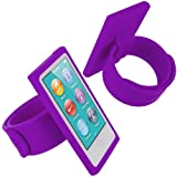 Purple Armband Sport Gym Watchband Silicone Rubber Gel Soft Skin Case Cover for Apple iPod Nano 7th Generation 7G 7