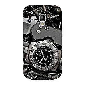 Enticing Knife And Watch Back Case Cover for Galaxy S Duos