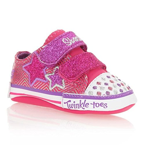 Skechers Infant/Toddler Girls' Twinkle Toes Baby Sparks Cosmic Dreamz,Pink/Green,Us 4 M front-1004931