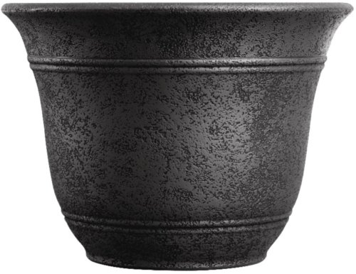 Listo 16-Inch Sierra Planter, Black Onyx