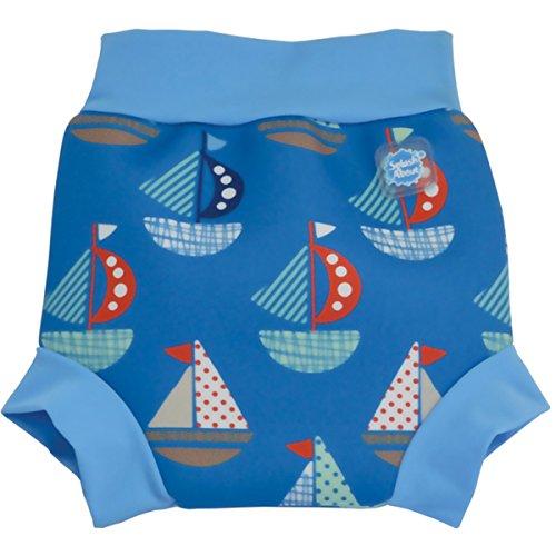 Splash About Collections Reusable Neoprene Swim Diaper - The Happy Nappy (Xxl 16Kg+ Waist: 42Cm Leg: 28Cm, Set Sail) front-342545