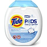 Tide Pods Free and Gentle Detergent, 81 Count