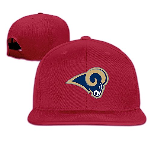 Custom Unisex St Louis Football Team Adjustable Hiphop Hats Caps Red (Car Washing Street compare prices)
