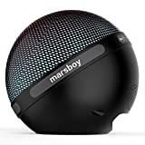 Marsboy Orb Portable Hifi Stereo 7 Kinds of LED Show Wireless Bluetooth Speaker with TWS - Black