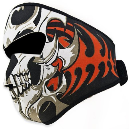 Angelia-Reversible-Warm-Black-Tribal-Classic-Skull-Neoprene-Full-Face-Mask-Facemask-Headwear-Outdoor-Sport-Ski-Skiing-Snowmobile-Snowboard
