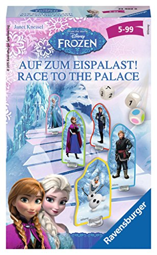 Frozen - Race to the Palace, juego de tablero, para 2 a 4 jugadores (Ravensburger 234028) (versión en alemán)