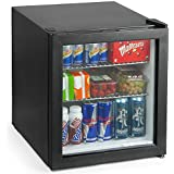 Frostbite Mini Fridge Black | by bar@drinkstuff | 49ltr Compact Refrigerator Holds 45x330ml Cans | Bottle Cooler, Small Mini Bar