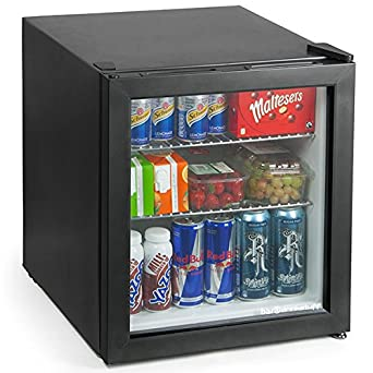 frostbite mini fridge black 49ltr compact refrigerator holds 45 x