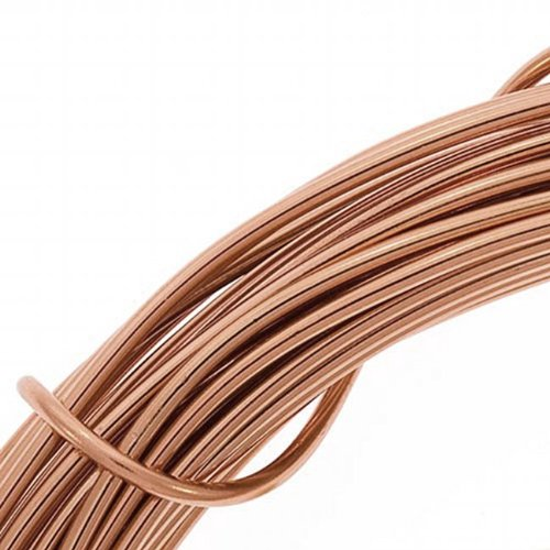 Beadsmith 12-Gauge Aluminum Craft Wire, 39-Feet, Light Copper (12 Gauge Craft Wire compare prices)