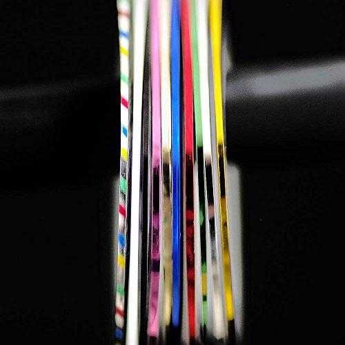 ラインテープ ネイルアート用 1mm幅×20m 10色セット