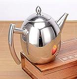 Spakeno ステンレスコーヒー ドリップ ポット オリーブ形状ドリップ ポット1L (ステンレス色) [並行輸入品]