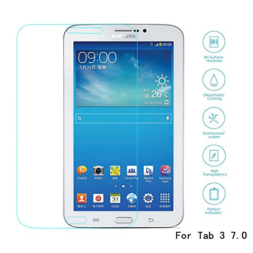 Boriyuan Tab 3 7.0 Screen Protector, [Tempered Glass Protection] Ultra Slim Crystal Clear Premium Tempered Glass Screen Protector For Samsung Galaxy Tab 3 7.0 Inch Tablet P3200 P3210 T210 T211- Brand New In Retail Package, Comes With A Micro Fiber Cleanin