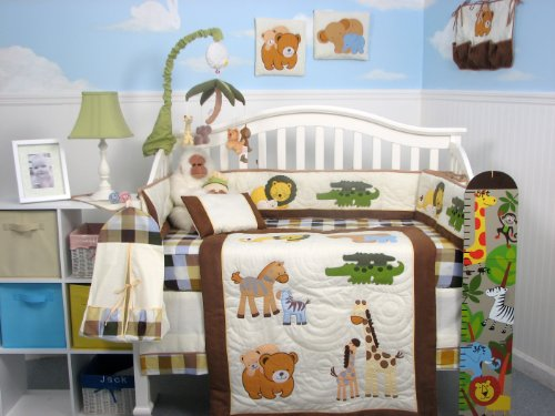 Jungle Crib Bedding 5015 back