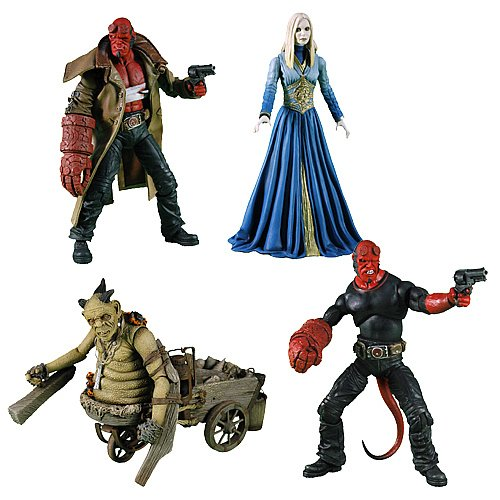 Buy Low Price Mezco HELLBOY 2 THE GOLDEN ARMY SERIES II SET OF 4 Figure (B001LN6HQ6)