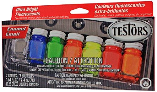 Testors Enamel Paint Set, Fluorescent (Testors Paint Neon Orange compare prices)