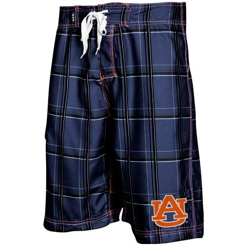 Auburn Tigers Plaid Boardshorts Swim Trunk Men's Swimsuit (34) at Amazon.com