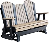 Outdoor Polywood 5 Foot Porch Glider - Adirondack Design *WEATHERWOOD/BLACK* Color