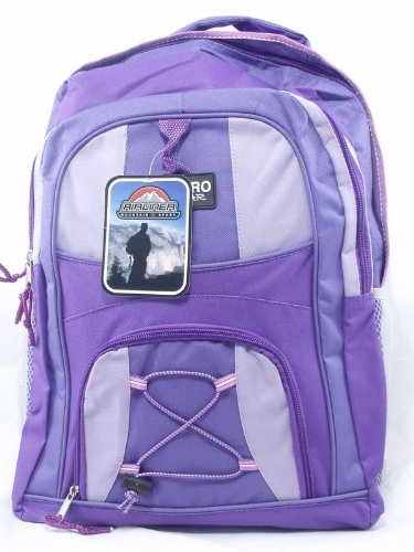 Womens Girls Purple Rucksack College School Backpack Bag - Peppermint Bags