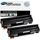 TonerPlusUSA New Compatible HP CE285A 85A Black Laser Toner Cartridge for HP LaserJet M1132, HP M1212nf MFP, M1217nfw MFP, P1102, P1102W, 1102w, M1130, M1210 (Black, 2 Pack)