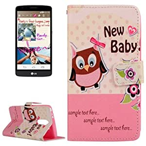 Lovely Cartoon New Baby Pattern Horizontal Flip Leather Case with Holder & Card Slots & Wallet for LG G3 Stylus / D690