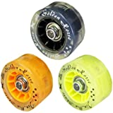 GoldenHorse Multicolor Light Up Quad Roller Skate Wheels