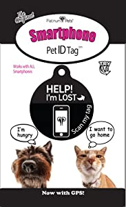 Platinum Pets The Original Smartphone Dog ID Tag with GPS, Large, Black