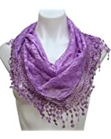 Terra Nomad Women's Triangle Sheer Floral Lace Fashion Scarf