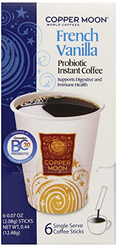 Copper Moon World Coffee Probiotic Instant Coffee, French Vanilla, 0.44 Ounce