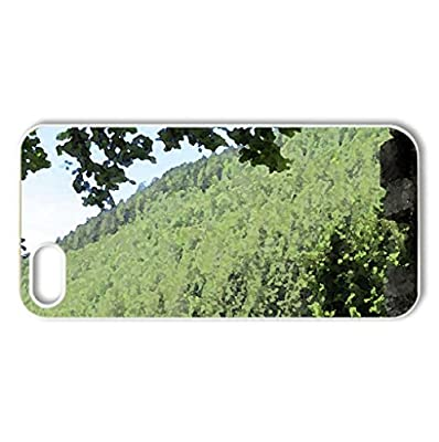 Annecy - France #9 - Case Cover for iPhone 5 and 5S (Mountains Series, Watercolor style, White)