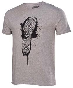 Converse Men's Chuck Taylor Shoe Sole T-Shirt-Heather Gray-Large