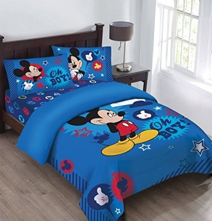 Disney Mickey Mouse Oh Boy! Twin Bedding Comforter Set