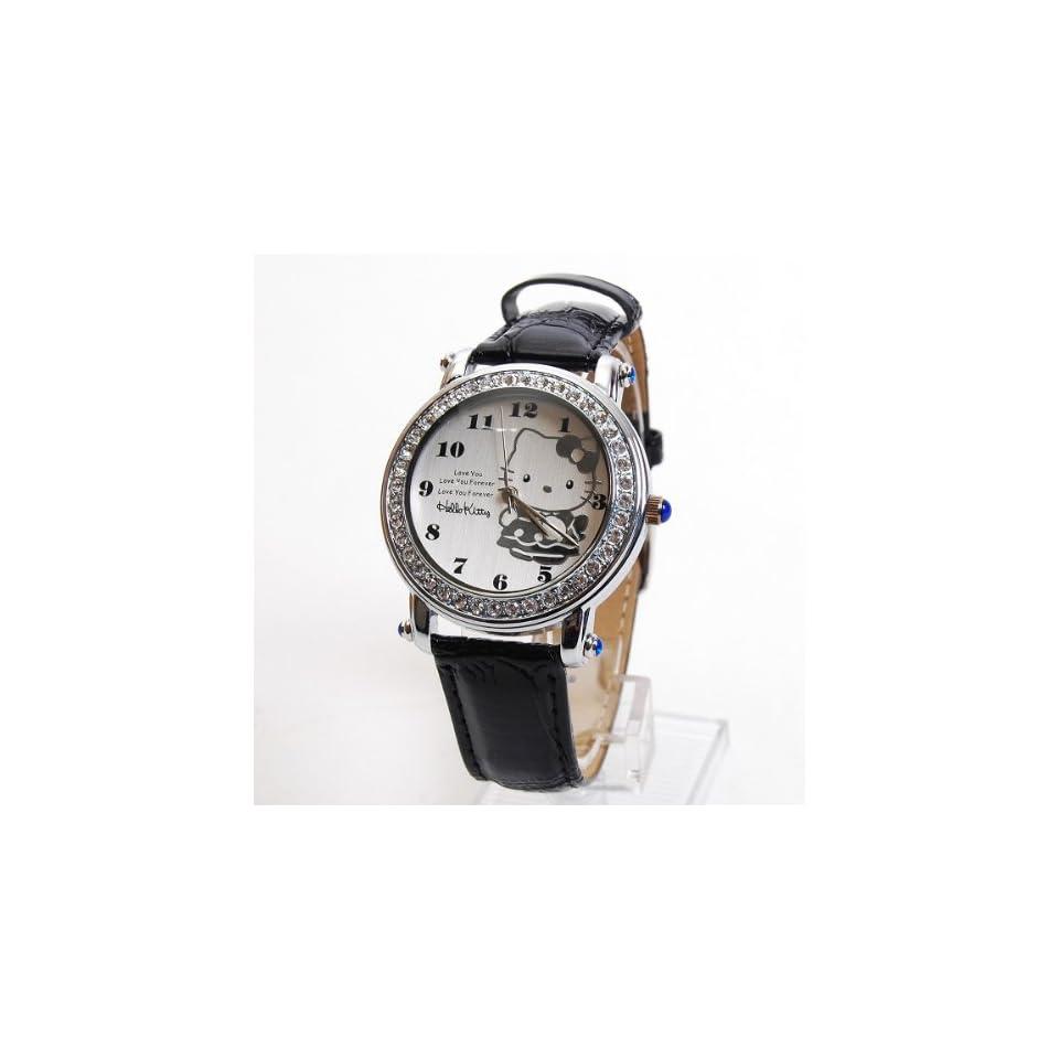 Hello Kitty Wristwatch Wrist Watch Rhinestones