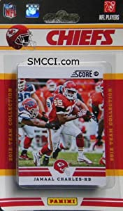 2012 Score Kansas City Chiefs Factory Sealed 12 Card Team Set by Kansas City Chiefs Team Set