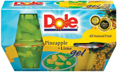 Dole Fruit Bowls Pineapple in Lime Gel 4 3 Oz Cup 6 Pack