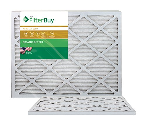 AFB Gold MERV 11 24x28x1 Pleated AC Furnace Air Filter. Pack of 2 Filters. 100% produced in the USA.
