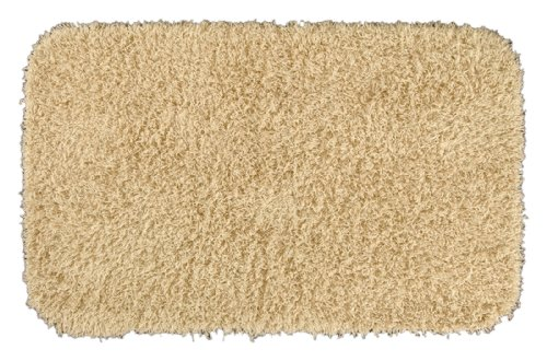 Garland Rug Jazz Shaggy Washable Nylon Rug, 24-Inch By 40-Inch, Linen front-904926